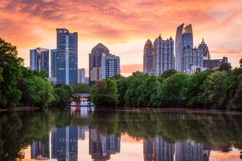 Atlanta Midtown Skyline at Sunset
